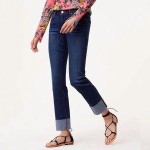 LOFT Curvy Straight Cuffed Raw Hem Jeans Size 28 6